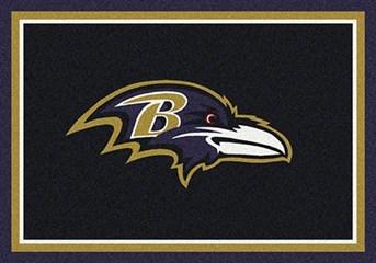 NFL Team Rugs Baltimore Ravens arearugs