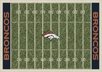 NFL Team Rugs Denver Broncos arearugs