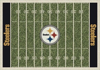 NFL Team Rugs Pittsburgh Steelers arearugs