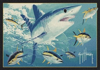 Guy Harvey Mako Shark arearugs