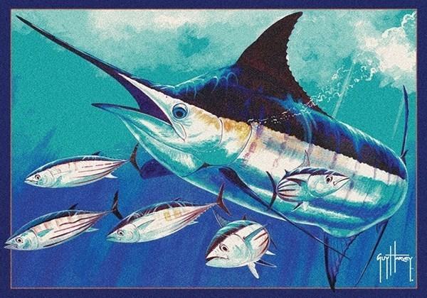 Blue (00632) Novelty / Seasonal Area Rug