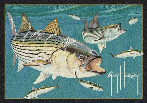 Milliken Guy Harvey Striped Bass Rugs Rugs Direct