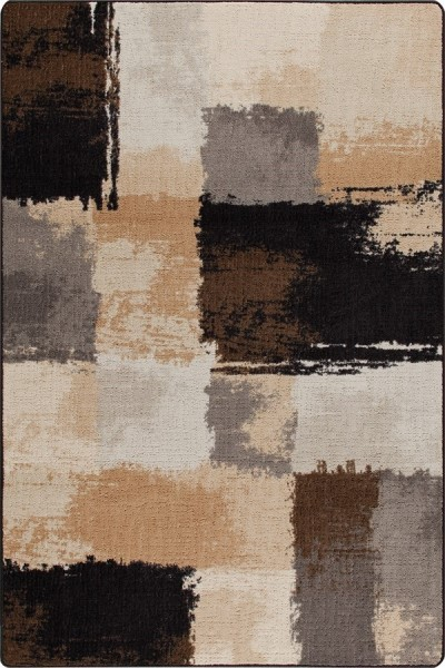 Black, Tan (3514) Contemporary / Modern Area Rug