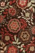 Product Image of Floral / Botanical Native Red (3534) Area Rug
