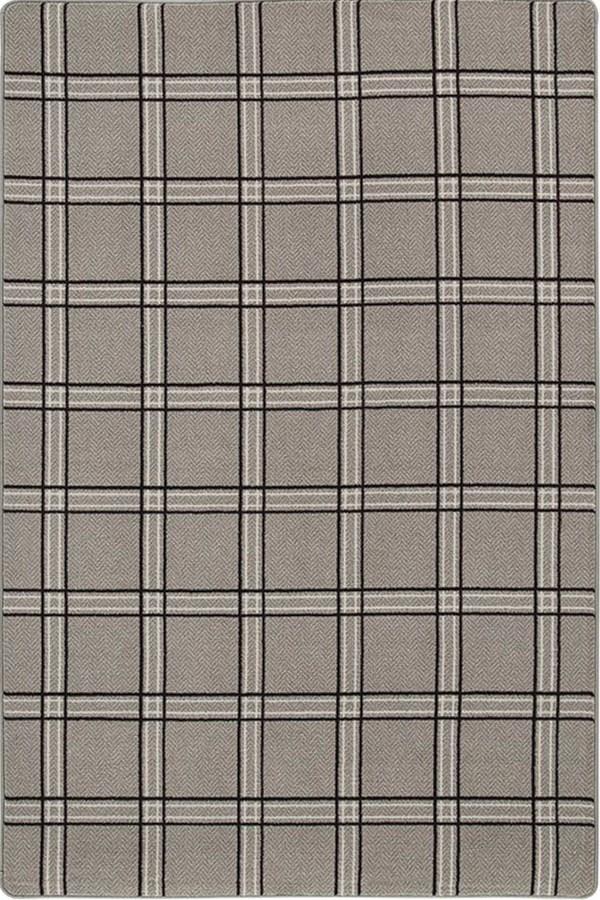 Black Tweed Geometric Area Rug