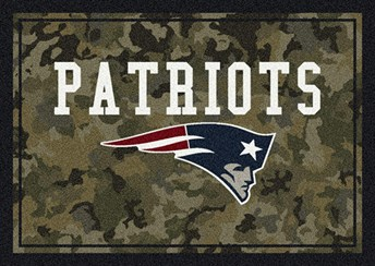 NFL Team Camo New England Patriots arearugs