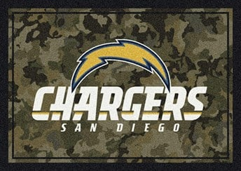 NFL Team Camo San Diego Chargers arearugs