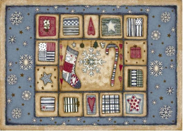 Beige, Blue (17) Novelty / Seasonal / Sports Area Rug