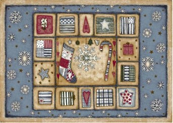 Holiday Rugs Patch of Snow P-4533 arearugs