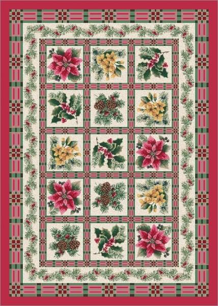 Pink, Evergreen (C111) Floral / Botanical Area Rug