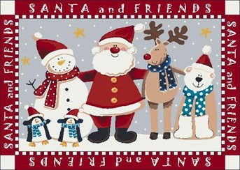 Holiday Rugs Santa and Friends P-4533 arearugs