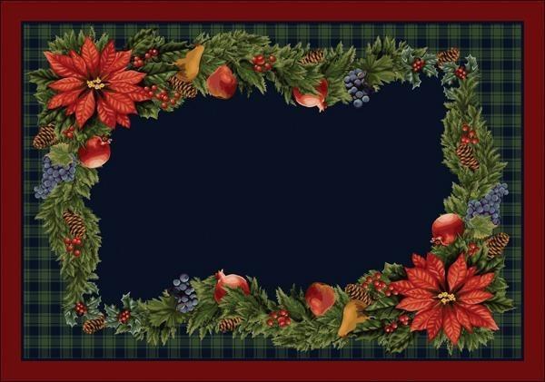 Blue, Green, Red (C203) Floral / Botanical Area Rug