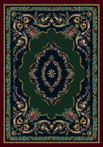 Sapphire Garnet (10000)  Traditional / Oriental Area Rug