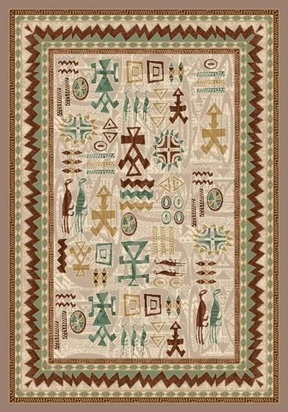Pearl Mist (1000)  Moroccan Area Rug