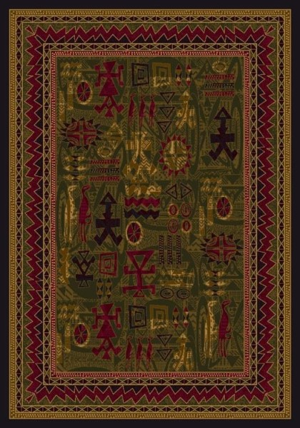 Olive (11500)  Moroccan Area Rug
