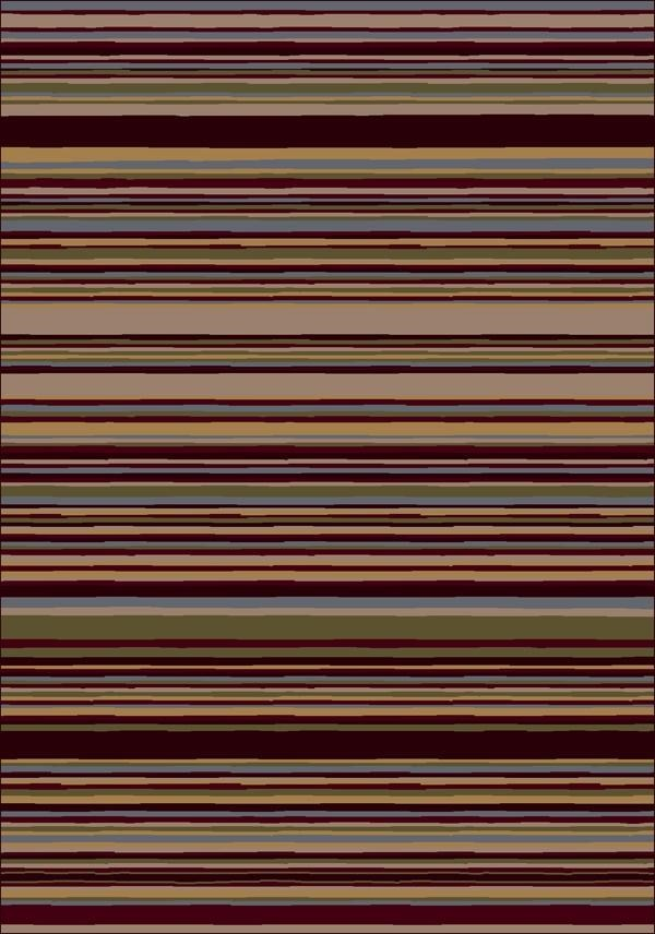 Dark Chocolate (10110)  Striped Area Rug