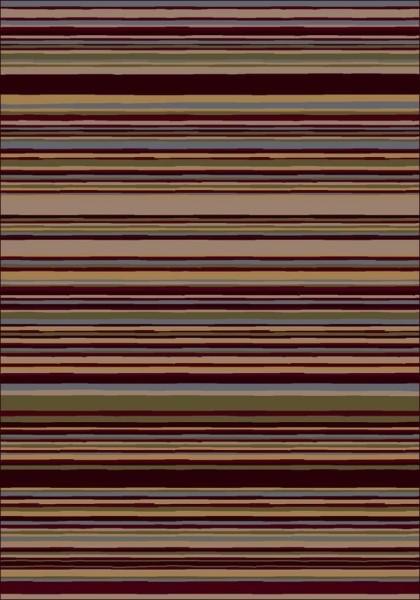 Dark Chocolate (10110)  Striped Area Rug