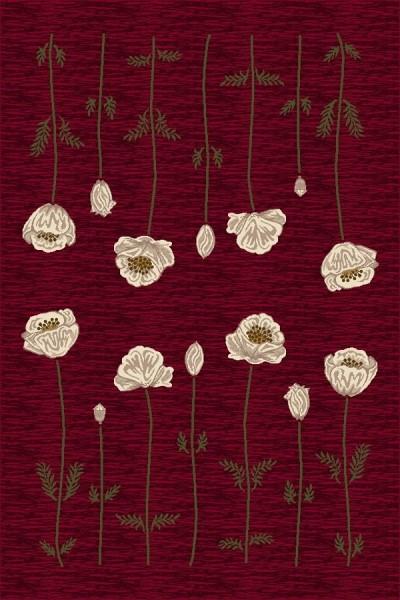 Garnet (10000)  Floral / Botanical Area Rug