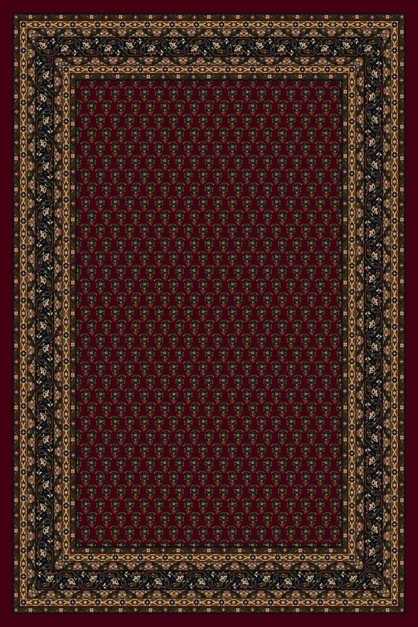 Garnet (10000)  Bordered Area Rug