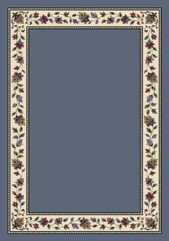 Lapis Solid (7001)  Floral / Botanical Area Rug