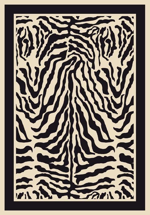 Zebra (2000)  Contemporary / Modern Area Rug