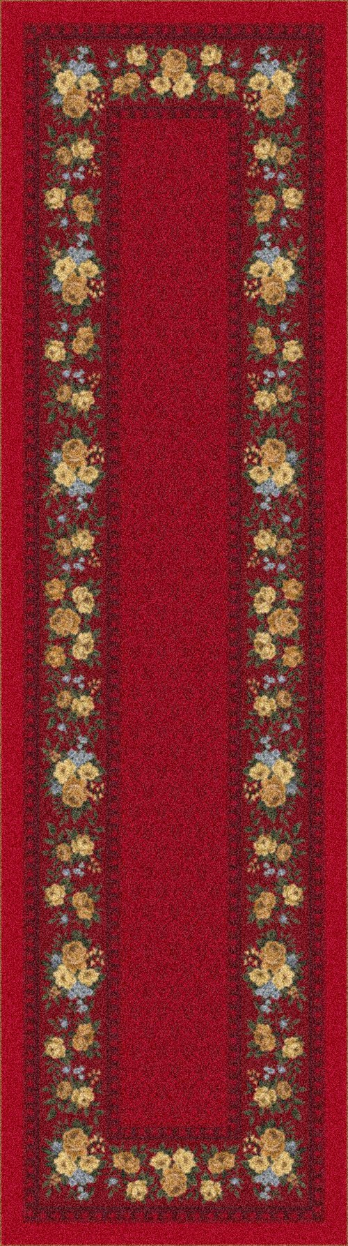Currant Red (224)  Floral / Botanical Area Rug