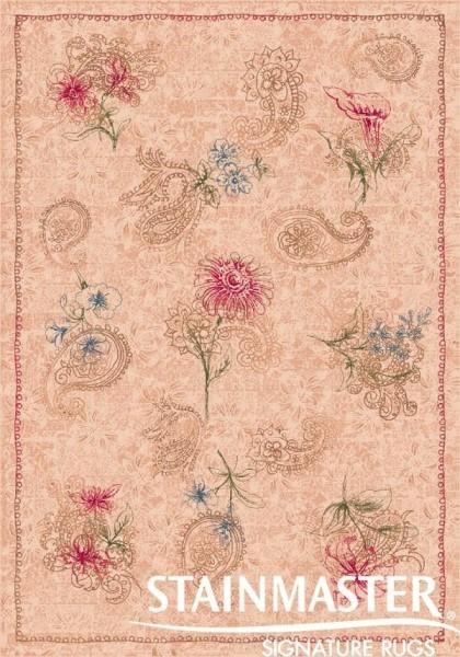Almond (28)  Floral / Botanical Area Rug
