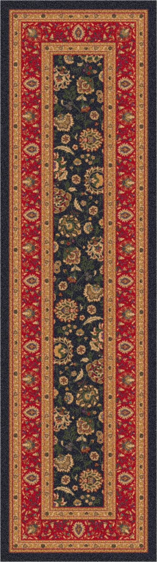 Ebony (24)  Traditional / Oriental Area Rug
