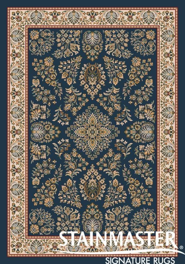 Candle Blue (615)  Traditional / Oriental Area Rug