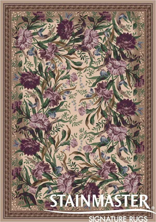 Heathered Rose (510) Floral / Botanical Area Rug