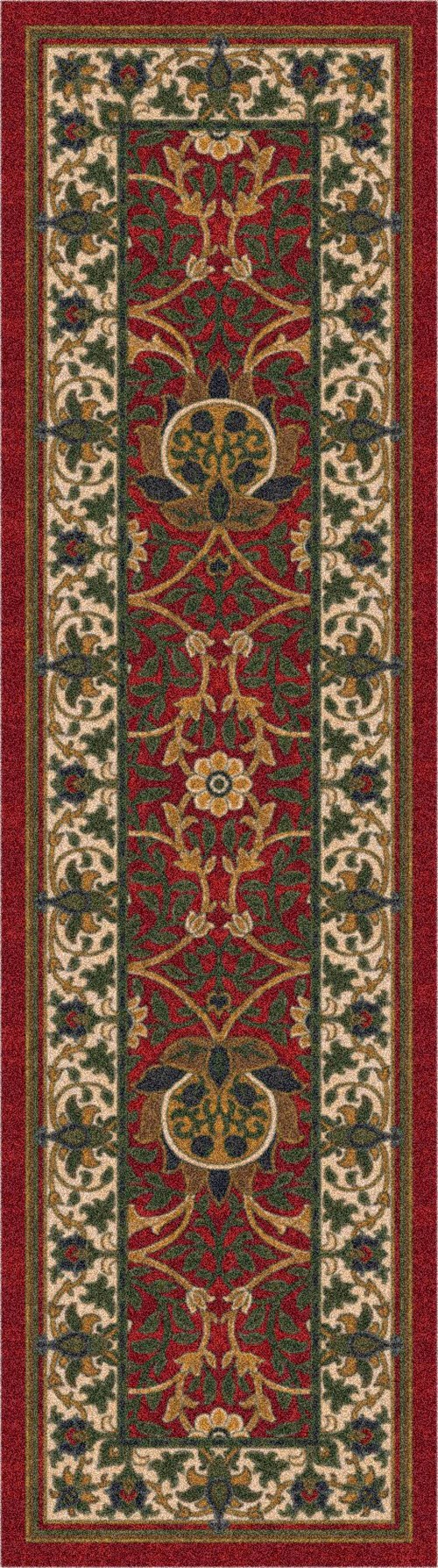 Indian Red (235) Traditional / Oriental Area Rug