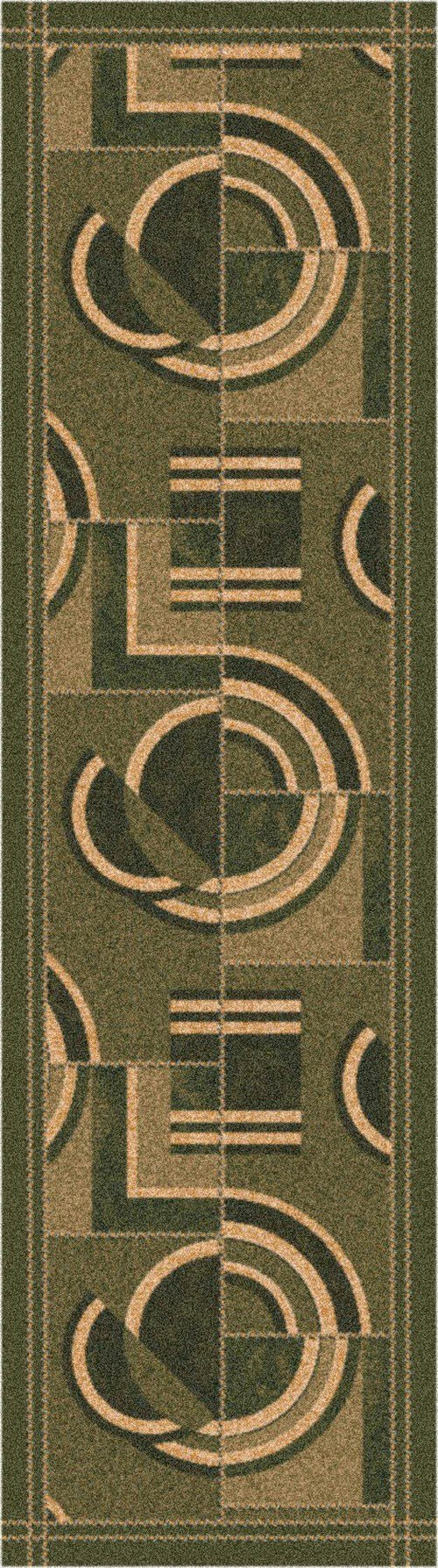 Deep Olive (77)  Contemporary / Modern Area Rug