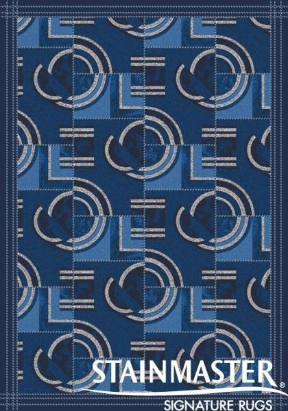 Phantom Blue (621)  Contemporary / Modern Area Rug