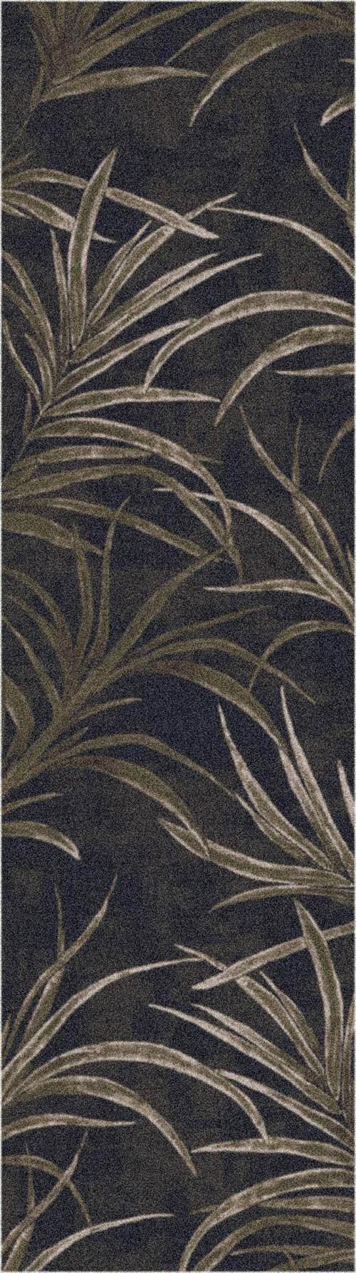 Ebony (24)  Floral / Botanical Area Rug