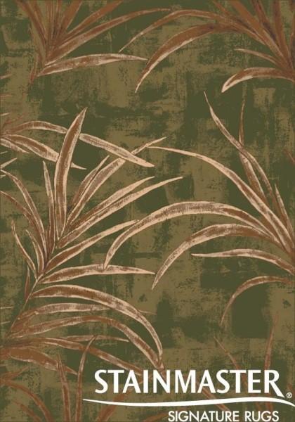 Deep Olive (77)  Floral / Botanical Area Rug