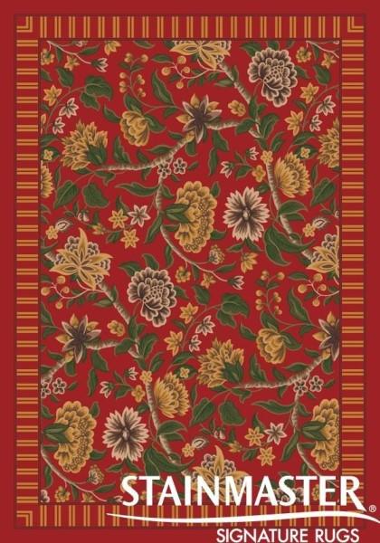 Indian Red (235)  Floral / Botanical Area Rug