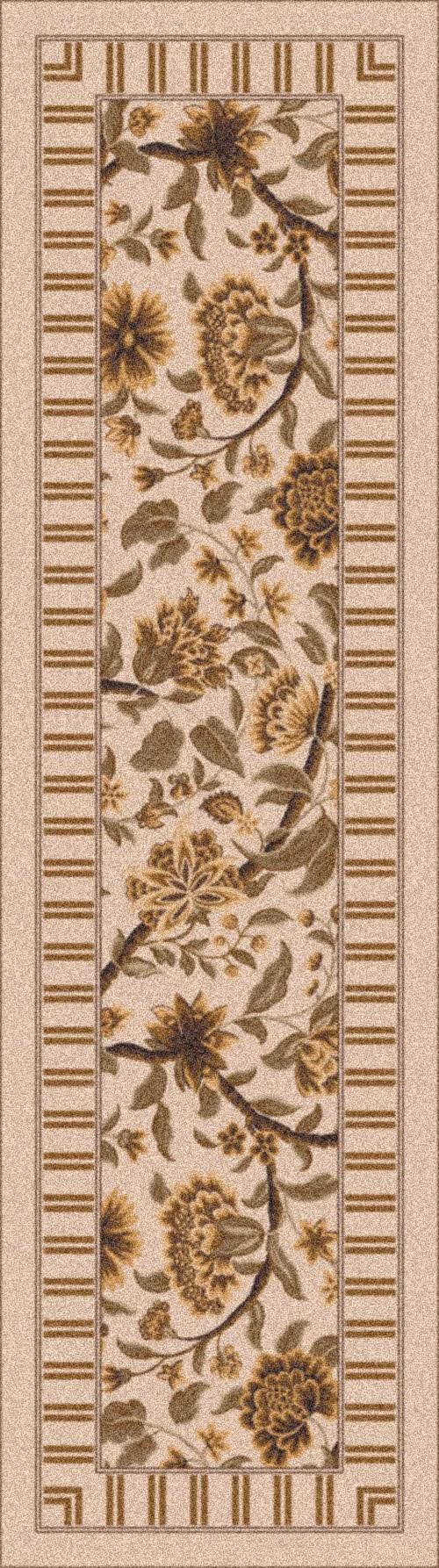Ecru (607) Floral / Botanical Area Rug