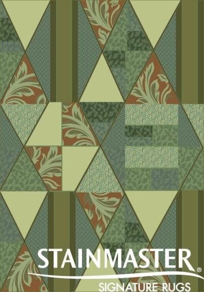 Beechnut Green (127) Geometric Area Rug