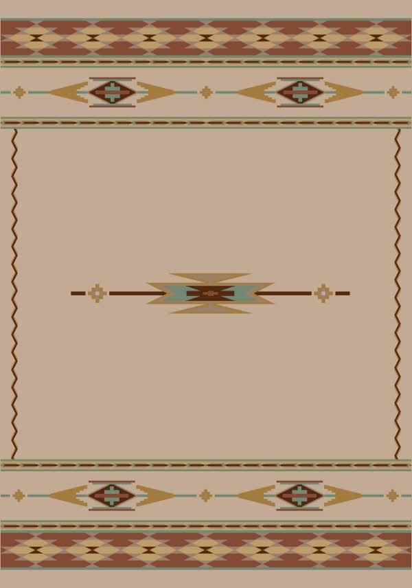 Pearl Mist (1000) Southwestern / Lodge Area Rug