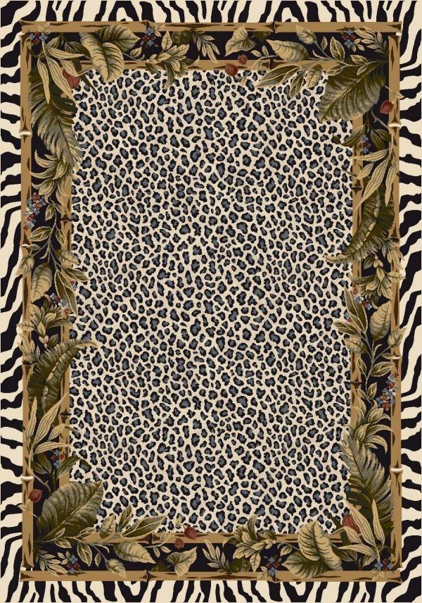 Snow Leopard (13002)  Floral / Botanical Area Rug