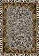 Product Image of Floral / Botanical Snow Leopard (13002)  Area Rug