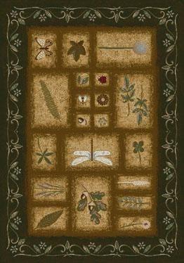 Olive (11500)  Floral / Botanical Area Rug