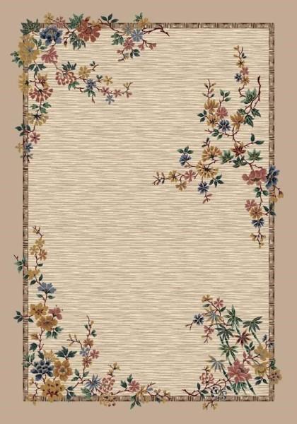 Pearl Mist (1000)  Floral / Botanical Area Rug