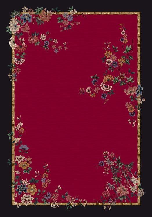 Ruby (8000)  Floral / Botanical Area Rug