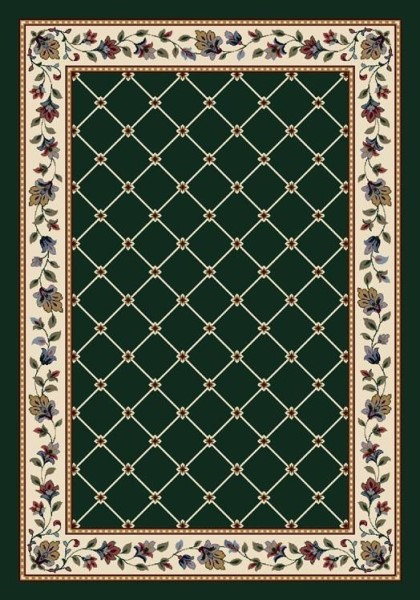 Emerald (11000)  Bordered Area Rug