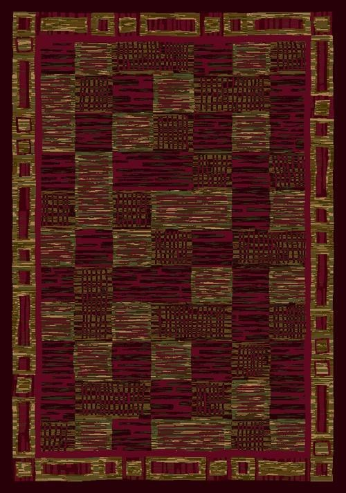 Dark Chocolate, Brick (10111) Transitional Area Rug