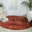 Product Image of Flame Floral / Botanical Area Rug