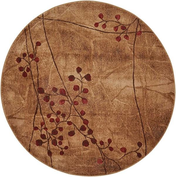 Latte Floral / Botanical Area Rug