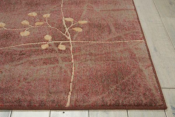 Brown, Beige Floral / Botanical Area Rug