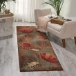 Product Image of Brown, Blue Floral / Botanical Area Rug